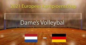 Nederland - Duitsland 2021 Europees Kampioenschap Volleybal Dames